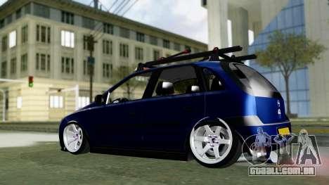 Opel Corsa C para GTA San Andreas traseira esquerda vista
