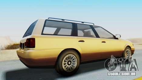GTA 5 Vulcar Ingot para GTA San Andreas traseira esquerda vista