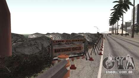 Road repair Dos Santos - Las Venturas. para GTA San Andreas quinto tela