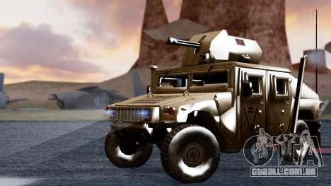 HUMVEE M1114 Desert para GTA San Andreas