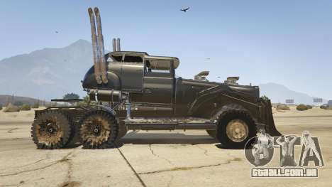 GTA 5 Mad Max The War Rig vista lateral esquerda