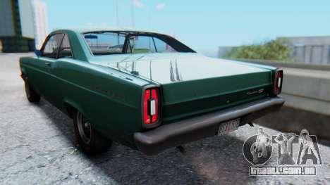 Ford Fairlane 500 1967 v1.1 para GTA San Andreas esquerda vista