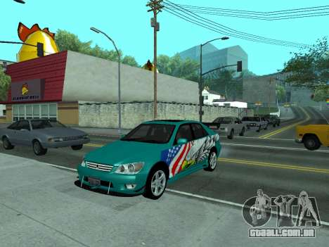 Toyota Altezza Tunable para GTA San Andreas vista traseira