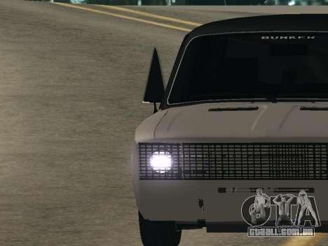VAZ 2106 BUNKER para GTA San Andreas traseira esquerda vista
