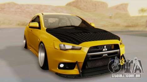 Mitsubishi Lancer Evolution X Stance para GTA San Andreas vista direita