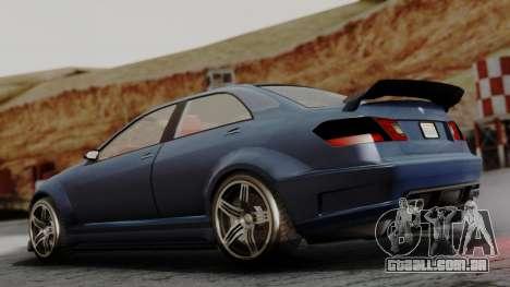 GTA 5 Benefactor Schafter V12 para GTA San Andreas esquerda vista