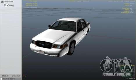 GTA 5 Ford Crown Victoria Detective vista lateral direita