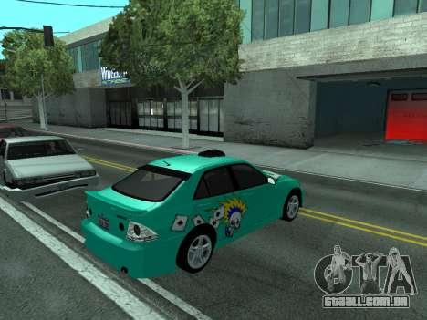 Toyota Altezza Tunable para GTA San Andreas vista direita
