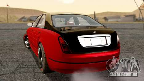 GTA 5 Enus Cognoscenti 55 Arm para GTA San Andreas esquerda vista