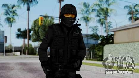 Black SWAT para GTA San Andreas