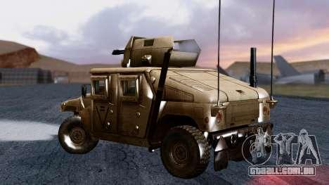HUMVEE M1114 Desert para GTA San Andreas esquerda vista