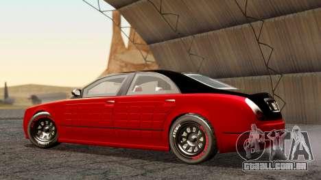GTA 5 Enus Cognoscenti 55 Arm para GTA San Andreas traseira esquerda vista