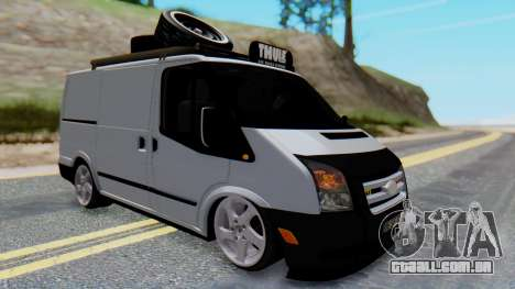 Ford Transit 2007 Model AirTran para GTA San Andreas vista direita