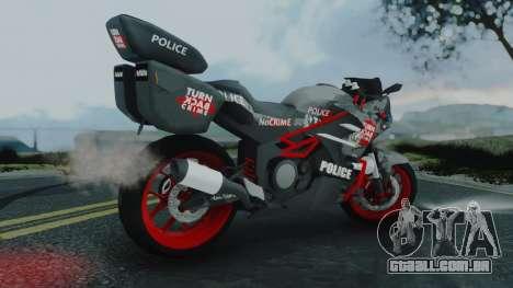 Bajidi R86 Police para GTA San Andreas esquerda vista
