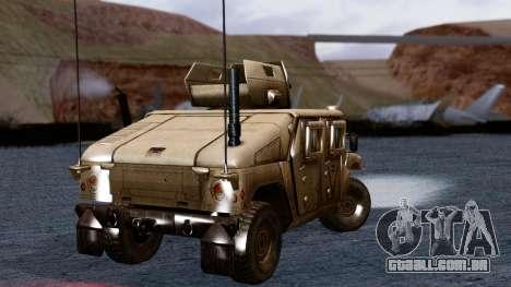 HUMVEE M1114 Desert para GTA San Andreas traseira esquerda vista