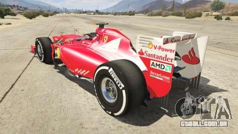 GTA 5 Ferrari F1 traseira vista lateral esquerda