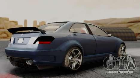 GTA 5 Benefactor Schafter V12 para GTA San Andreas traseira esquerda vista