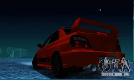 Subaru Impreza WRX STi LP 400 para GTA San Andreas esquerda vista