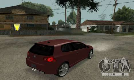 VW Golf R32 para GTA San Andreas esquerda vista