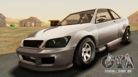 GTA 5 Karin Sultan RS para GTA San Andreas vista direita