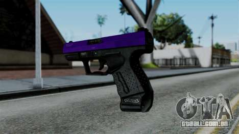 Purple Desert Eagle para GTA San Andreas segunda tela