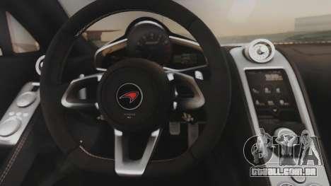 McLaren 650S Coupe Liberty Walk para GTA San Andreas vista interior