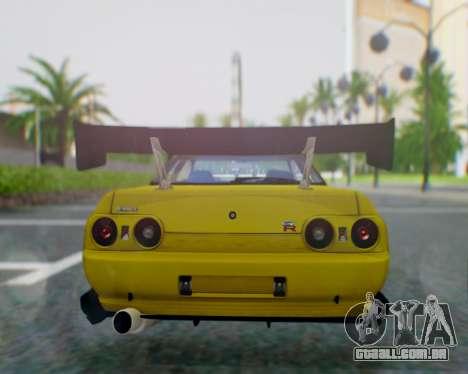 Nissan Skyline R32 GTR para GTA San Andreas traseira esquerda vista