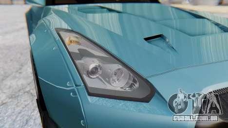 Nissan GT-R R35 Rocket Bunny v2 para GTA San Andreas vista interior