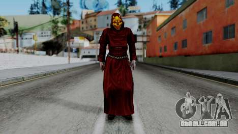 Monje Skull Gold Skin para GTA San Andreas segunda tela
