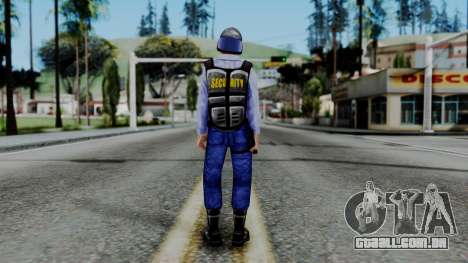 Barney Calhoun from Half Life Blue Shift para GTA San Andreas terceira tela