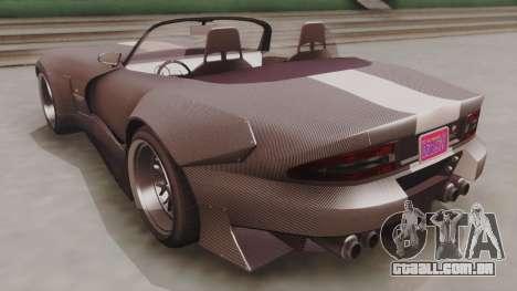 GTA 5 Bravado Banshee 900R Carbon para GTA San Andreas traseira esquerda vista
