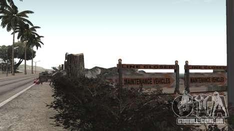 Road repair Dos Santos - Las Venturas. para GTA San Andreas segunda tela