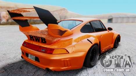 Porsche 993 GT2 RWB GARUDA para GTA San Andreas vista direita