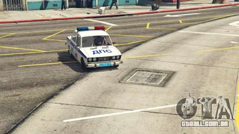 GTA 5 VAZ 2106 Polícia traseira direita vista lateral