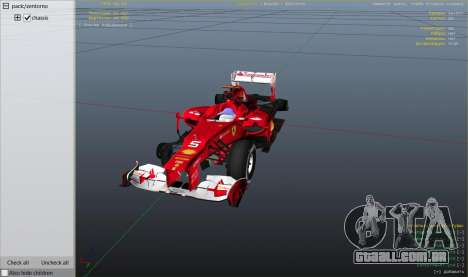 GTA 5 Ferrari F1 vista lateral direita