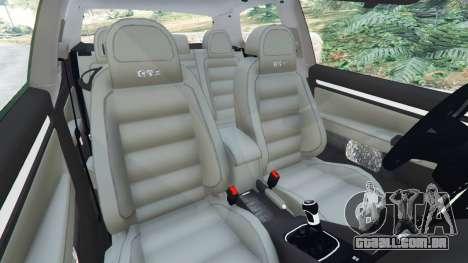 GTA 5 Volkswagen Golf Mk5 GTI 2006 v1.0 vista lateral direita