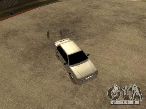 VAZ-2115 para GTA San Andreas vista interior