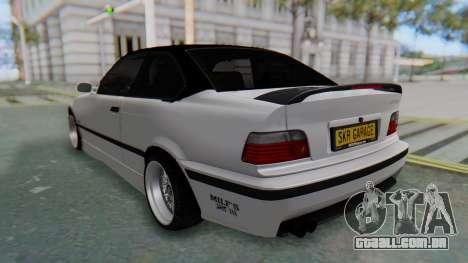 BMW 320i E36 MPower para GTA San Andreas traseira esquerda vista