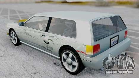 Flash F&F3 Silvia PJ para GTA San Andreas traseira esquerda vista