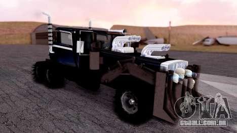 Mad Max The War Rig Bilge Tuning para GTA San Andreas traseira esquerda vista