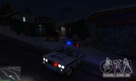 GTA 5 VAZ 2106 Polícia vista lateral direita