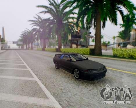 Nissan Skyline R32 GTR para GTA San Andreas vista traseira