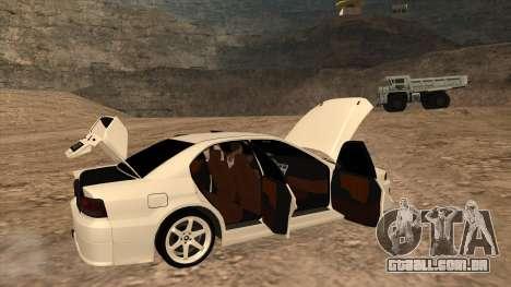 Mitsubishi Galant VR-4 (2JZ-GTE) para GTA San Andreas traseira esquerda vista