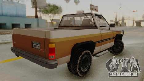 GTA 4 Declasse Rancher IVF para GTA San Andreas esquerda vista