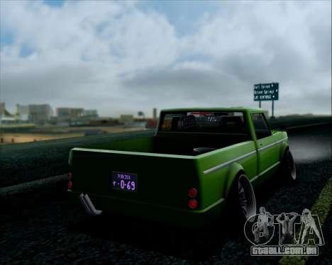 Sadler Debbie para GTA San Andreas traseira esquerda vista