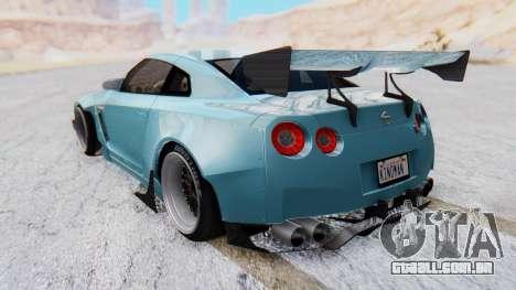 Nissan GT-R R35 Rocket Bunny v2 para GTA San Andreas esquerda vista