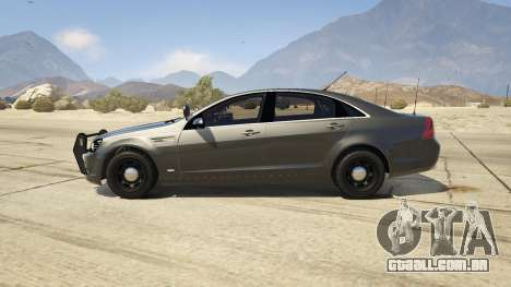 GTA 5 Unmarked Chevrolet Caprice vista lateral esquerda