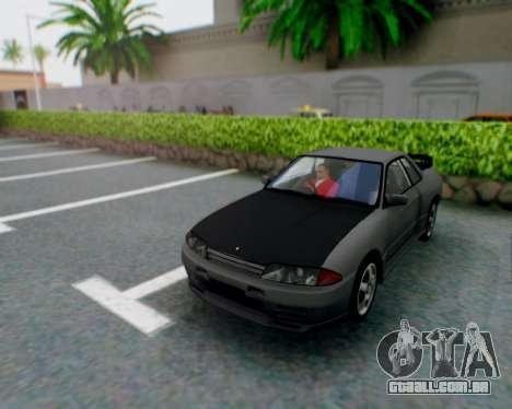 Nissan Skyline R32 GTR para GTA San Andreas vista interior
