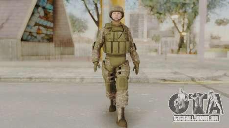 US Army Urban Soldier from Alpha Protocol para GTA San Andreas segunda tela