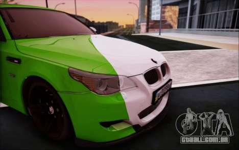 BMW m5 e60 Verdura para GTA San Andreas vista traseira